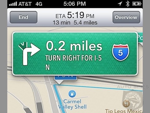 EXCLUSIVE: First iPhone iOS6 Turn By Turn Map Screen Photos And Impressions. Will you Miss Google Maps?
