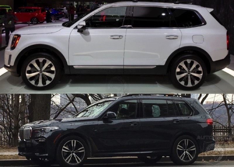 CAR WARS! Which EXTERIOR Design Wins? Kia Telluride Or BMW X7?