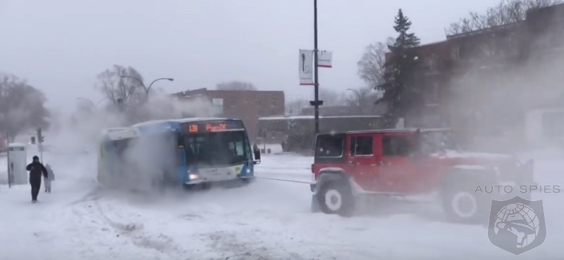 Montrealer's FTW! Bet You've NEVER Seen A City Bus In Winter Towed Like THIS!