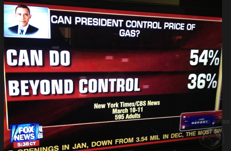 NY Times Survey Shows MAJORITY Believe Obama CAN Control Gas Prices. Do YOU?