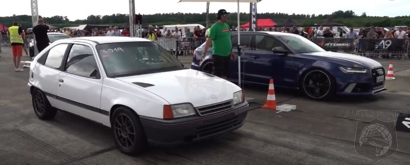 730 HP Opel Kadett Drag Races Audi R8, RS6 And BMW M3. SLAM DUNK RIGHT? Maybe NOT!