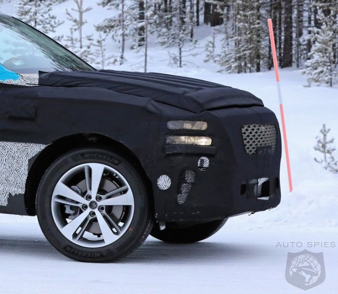 Genesis GV80 Luxury SUV Snapped During Cold Weather