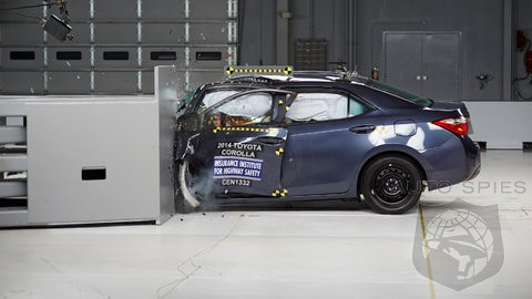 2014 Toyota Corolla Joins Camry, Prius V And Rav4 As IIHS As Small Overlap Crash Test Flunkies