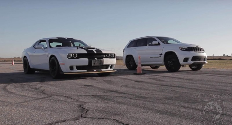 Which Is Faster? The Dodge Challenger Hellcat Or the Jeep Grand Cherokee Trackhawk?