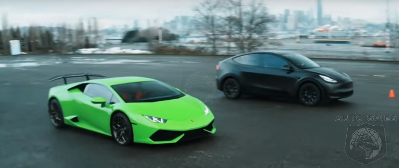 WATCH: Tesla Model Y Vs Lamborghini Huracan On The Drag Strip - But Why?