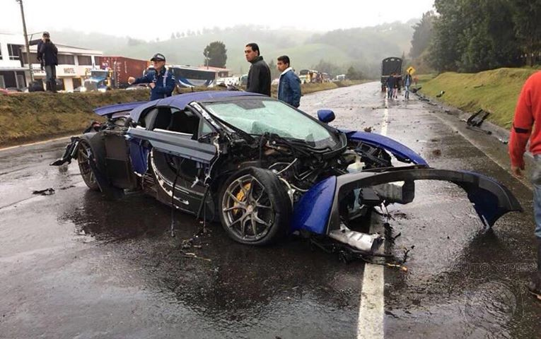 Columbian Crash Takes Out McLaren 650S, Porsche Boxster S, And Mercedes-AMG GT S In One Fell Swoop