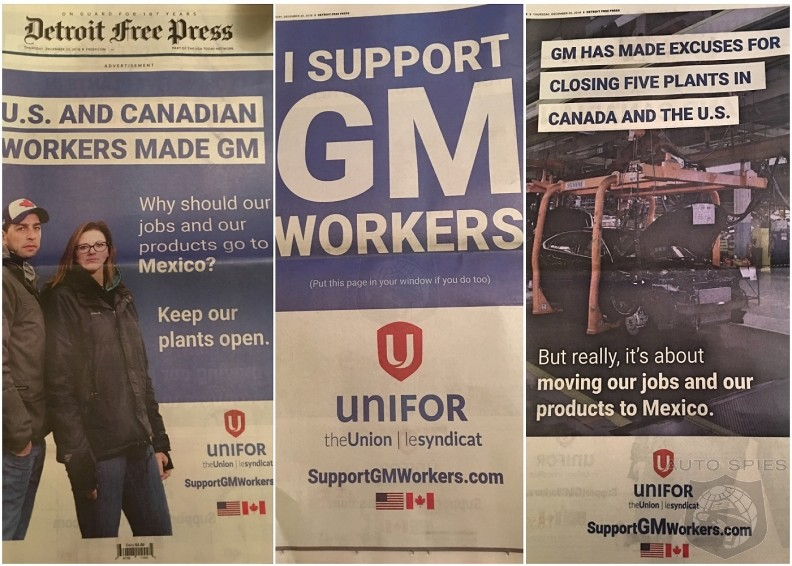 Canadian Union Bashes GM With Front Page Print Ads Over Abandoning Plant Workers
