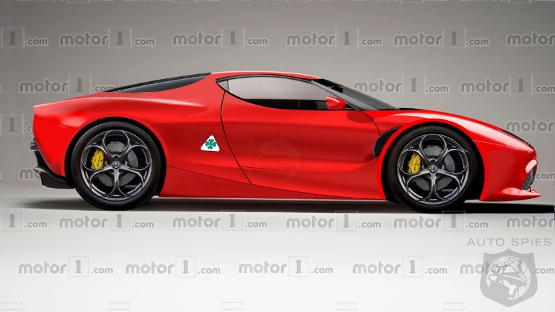 If Alfa's New 700HP 8C Looks Like THIS, Will It Find Many Takers In The Super Car Segment?