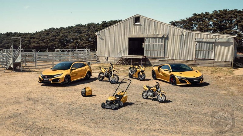 EEEK! Honda Australia Celebrates 50 Years By Embellishing Damn Near Everything They Make In Gold