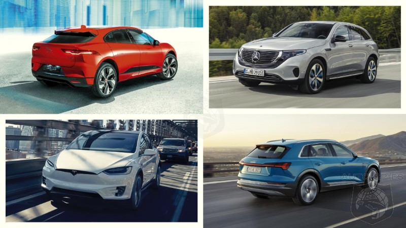 EV Crossover Shootout! Jag I-Pace, Mercedes EQC, Tesla Model X and Audi e-tron - Which One Is The Best?