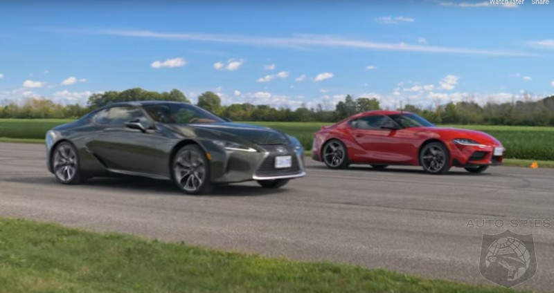 WATCH 2021 Supra Vs 2021 Lexus LC500 - Who Wins In A Drag Race?