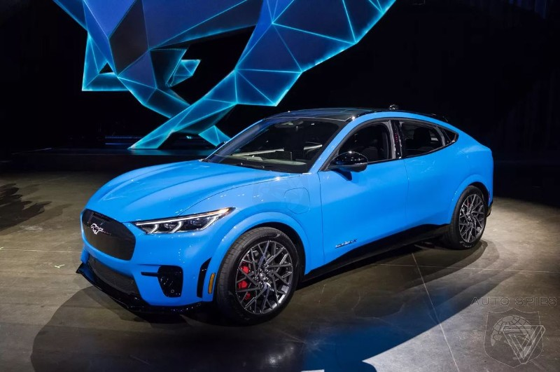 Ford Christens Mustang Mach-E EV SUV Ahead Of Sunday Debut
