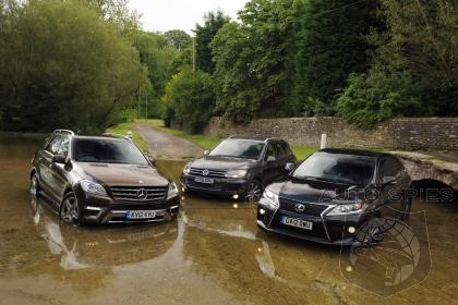 Lexus RX450h And Mercedes ML250 CDI Come Up Short Against VW  Touareg In European Shootout