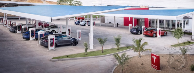 Tesla Plans To Have 100% Of Public Supercharging Stations Powered By Renewable Energy By The End Of The Year