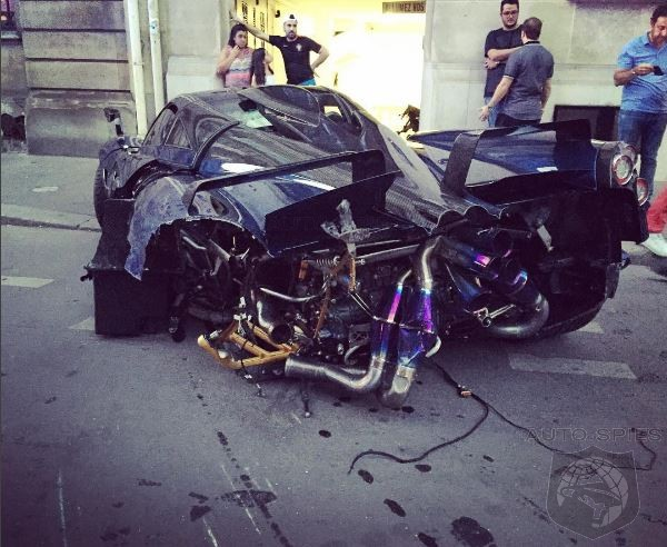Drunk Driver Mangles One Off Pagani Huayra Pearl In Paris
