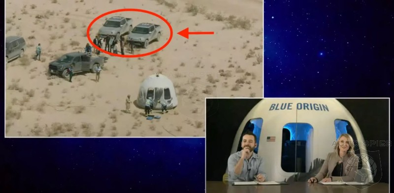 Blue Origin Aerospace Now Using Rivian Pickups As Support Vehicles