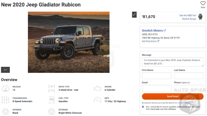 Is It Worth It? Some Dealers Marking Up Initial Gladiator Deliveries By $20,000