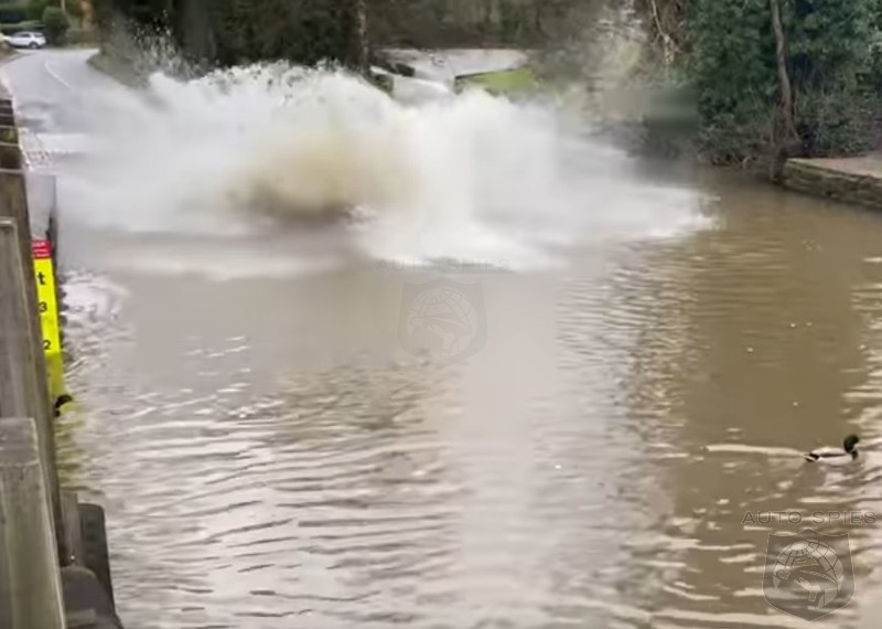 WATCH: Overconfident Driver Takes His Jaguar F Pace Swimming With Predictable Results