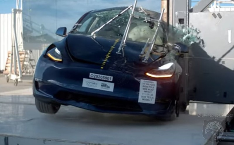 WATCH: Tesla's Model Y Aces NTHSA Crash Tests