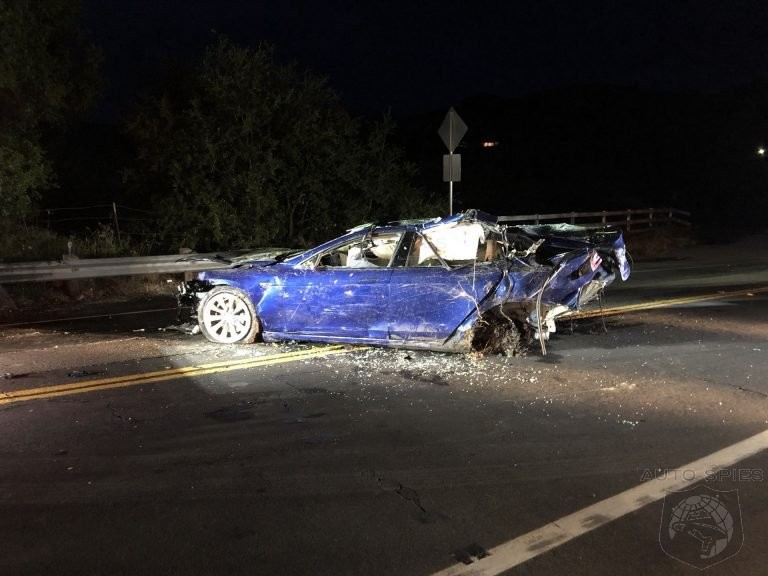 Autopilot Status Unknown After Fatal Model S Crashes Through Fence And Ends In Pond