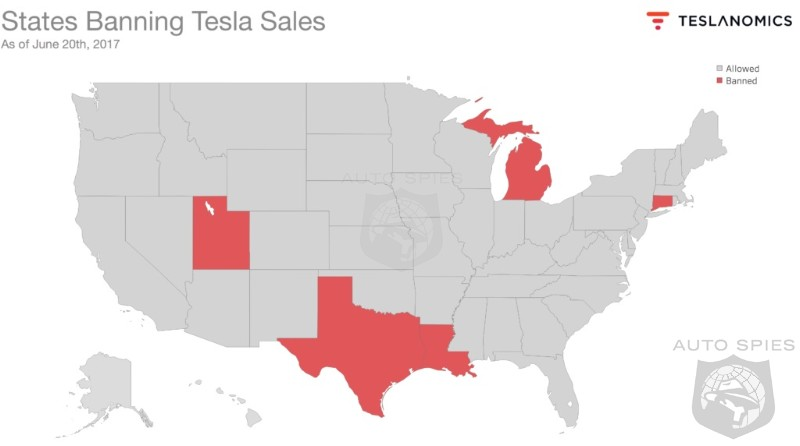 States Banning Tesla Sales Are Risking Millions In Lost Taxes