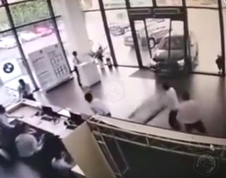 Driver Finishes Possibly The Worst Test Drive EVER, By Crashing Into Dealership Showroom