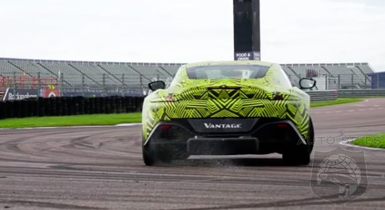 TEASED! Spied In Action, Aston Martin Teases The All-new Vantage Slithering Around The Track