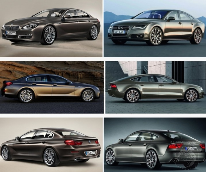VIDEO: CAR WARS! Audi A7 vs. BMW 6-Series Gran Coupe ...
