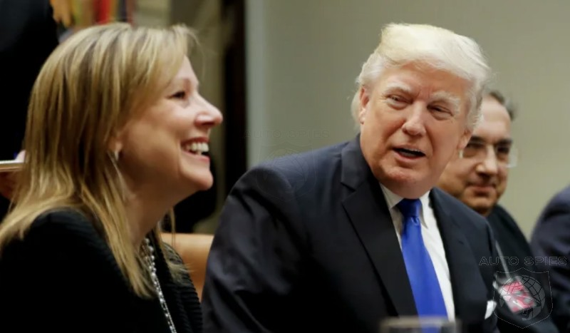 GM's CEO, Mary Barra, And President Trump Working Together In Ohio?