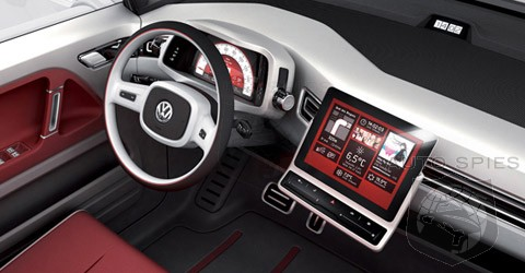GENEVA MOTOR SHOW, EXCLUSIVE PHOTOS: VW Shows Best iPad Dash Bracket Integration Yet
