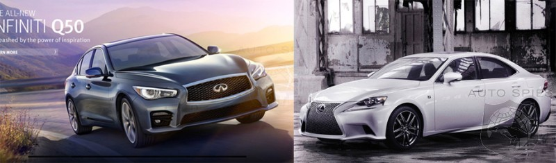 detroit auto show face off all new infiniti 39 s q50 vs lexus 39 is f sport who gets your vote. Black Bedroom Furniture Sets. Home Design Ideas