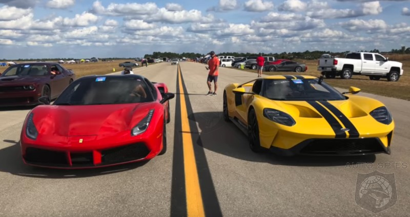 CAR WARS! SUPERCAR Edition — Who WINS When You Square Up A Ferrari 488 Vs. A Ford GT?