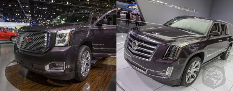 LA AUTO SHOW: CAR WARS! GMC Yukon Denali Vs. Cadillac Escalade ...