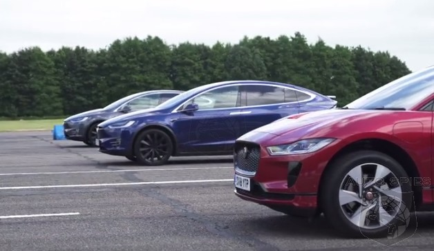 VIDEO: What Happens When You Put The All-new Jaguar I-Pace Up Against The Tesla Model X 100D And P100D?