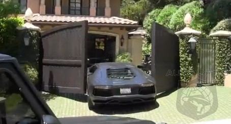 OUCH! Kanye West's Assistant Gives His Lamborghini A Boo Boo, Or Two...