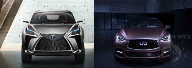 FRANKFURT MOTOR SHOW: CAR WARS! The Infiniti Q30 And Lexus LF NX Square