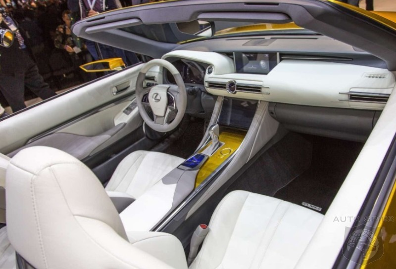 laautoshow best real life shots of the lexus lf c2 39 s interior laas notice anything. Black Bedroom Furniture Sets. Home Design Ideas
