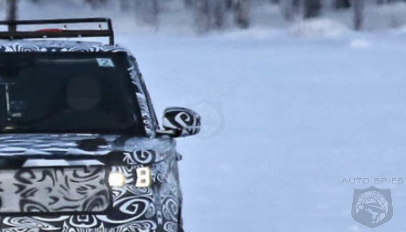 SPIED! All-new Spy Pics Of The 2022 Range Rover Sport Hanging Its Ass-end Out On A Frozen Lake...