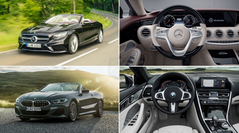 CAR WARS! WHO'd You Rather? The BMW M850i Convertible vs. The Mercedes-Benz S560 Convertible
