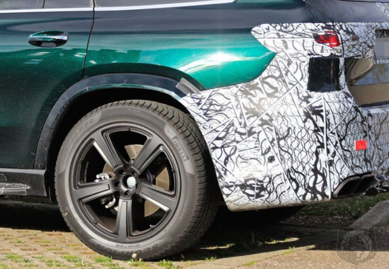 SPIED: All-new Snaps Of The Upcoming Mercedes-AMG GLS63 Shows The Camo Being PEELED Off