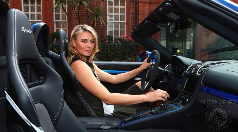 Has The Porsche Boxster Spyder Ever Looked SO Good? Maria Sharapova Takes One For A Spin