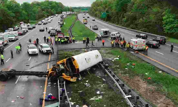 NJ Schoolbus Crash Leaves Two Dead, 40+ Injured And Closes I-80