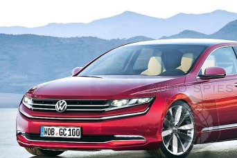 RENDERED SPECULATION: If Volkswagen's Phaeton Looked Like THIS Would YOU Consider One Over The Current Crop Of Large Luxury Sedans?