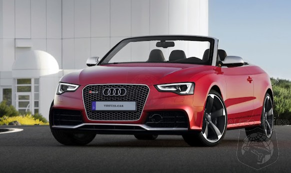 RENDERED SPECULATION: Tired Of Swirly Camouflage? This Audi RS5 Convertible Render Is The MOST Realistic Render So Far