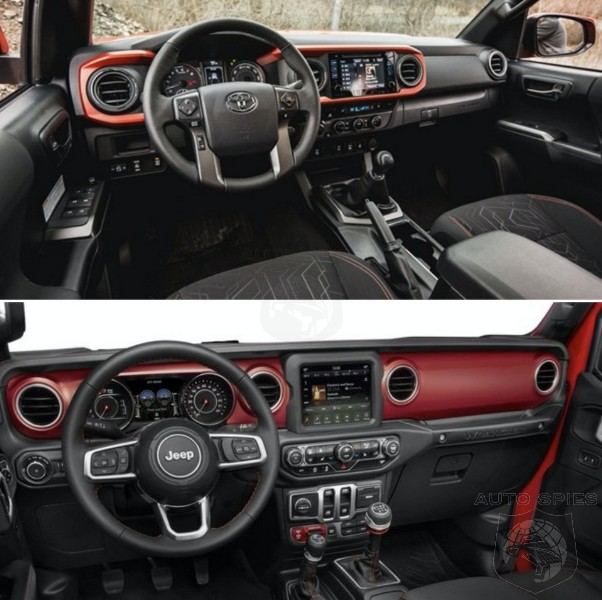 CAR WARS! Toyota Tacoma vs. Jeep Wrangler, WHICH Rugged Truck's Interior Gets Your Vote?