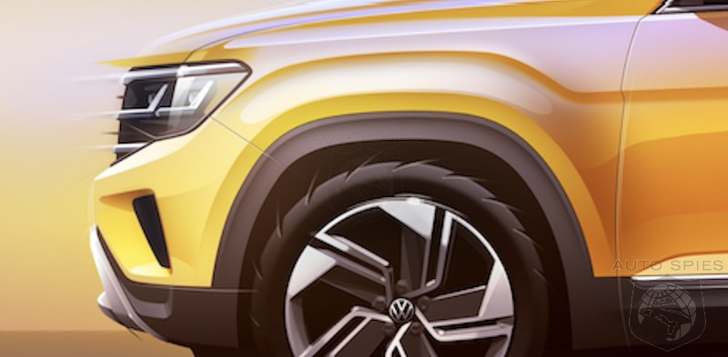 SKETCHED OUT: Volkswagen Shows Us The REVISED 2021 Atlas. Well, Sort Of...