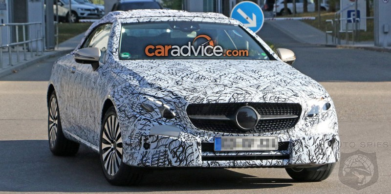 Mercedes Benz E-Class Cabriolet for 2017 Spotted with Less Camouflage