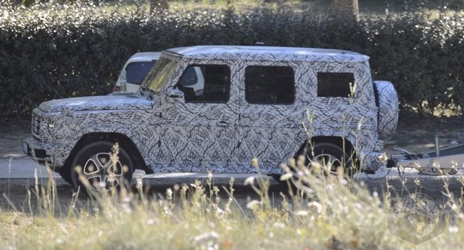 2018 Mercedes Benz G class caught out