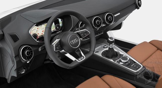 2015 Audi TT Interior Revealed: Features All-Digital Dashboard Without Separate Infotainment Screen and Revised MMI