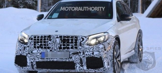 2018 MERCEDES AMG GLC63 COUPE - the latest spy photos! It has been caught at testing drive in Europe